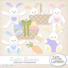 Easter Bunnies Templates by Kim Cameron