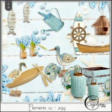 Elements CU - 299 ocean inspiration by Cajoline-Scrap