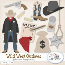 Wild West Outlaws Templates by Kim Cameron
