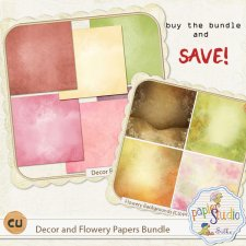 Decor and Flowery Papers Bundle EXCLUSIVE by Papierstudio Silke