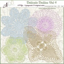 Delicate Doilies Vol 4 Elements by ADB Designs