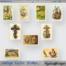 Vintage Easter Stamps 1 by Mandog Scraps