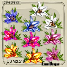 CU Vol 510 Flowers Lily by Lemur Designs