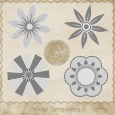Flower Layered Templates 5 by Josy