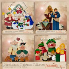 Handpainted Christmas Collection by SnickerdoodleDesigns