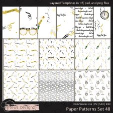 EXCLUSIVE Layered Paper Patterns Templates Set 48 by NewE Designz