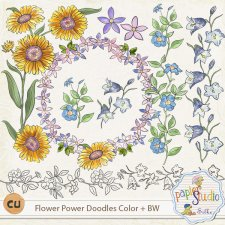 Flower Power Doodles EXCLUSIVE by PapierStudio Silke