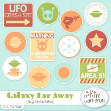 Galaxy Far Away Tag Templates by Kim Cameron