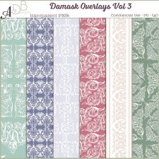 Damask Overlays Vol 3 by ADB Designs