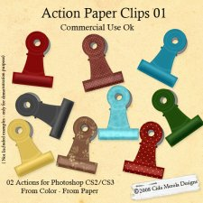 Paper Clips Action 01 by Cida Merola