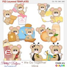 We Go Together Mice Layered Element Templates