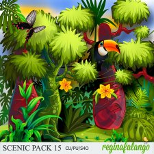 Scenic Jungle Pack 15 by Reginafalango