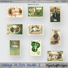 Vintage St Pats Stamps 2