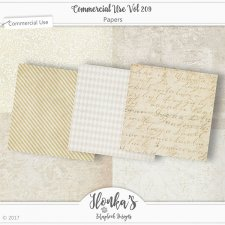 CU vol 209 Papers by Ilonkas Scrapbook Designs