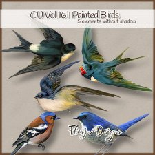 CU vol 161 Oil Painted Birds by Florju Designs