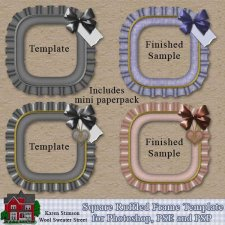 Square Ruffled Frame Template by Karen Stimson
