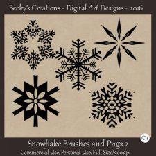 Snowflake Brushes and Pngs 02 by Beckys Creations