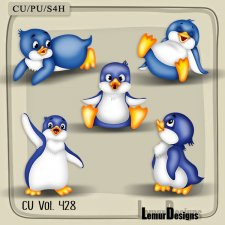 CU Vol 428 Penguins by Lemur Designs