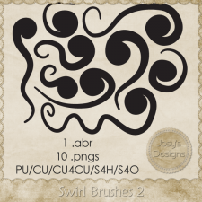Swirl Brushes 2 -CU4CU by Josy