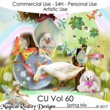 Spring Mix - CU Vol 60 by MagicalReality Designs