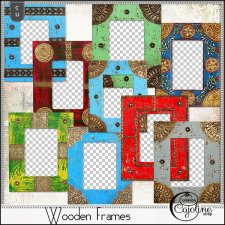 Wooden frames by Cajoline-Scrap