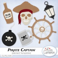 Pirate Captain Templates by Kim Cameron