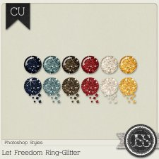 Let Freedom Ring Glitter PS Styles by Just So Scrappy