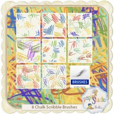 Chalk Scribble Brushes EXCLUSIVE by PapierStudio Silke