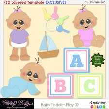 Baby Toddler Play 02 - EXCLUSIVE Layered TEMPLATES