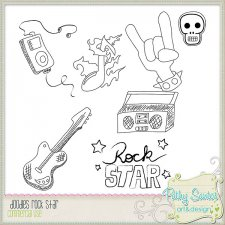 Doodles Rock Star by Pathy Design