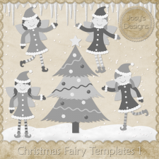 Christmas Fairy Layered Templates by Josy