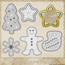 Christmas Cookie Layered Templates 1 by Josy