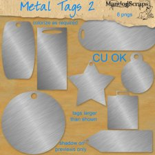 Metal Tags 2 by Mandog Scraps
