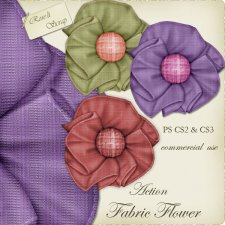 Action - Fabric Flower by Rose.li