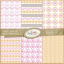 Floral Doodles Paper Templates Lilmade Designs
