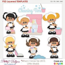 When I Grow Up Little Maids Layered Element Templates