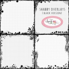 Shabby floral overlays black versionLilmade Designs
