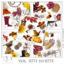 Vol. 0771 to 0775 Autumn Nature Mix by D's Design