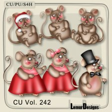 CU Vol 242 Mouses Pack 4 by Lemur Designs