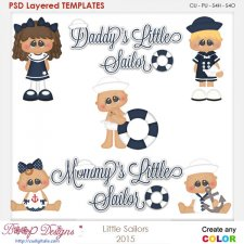 Little Sailor Layered Element Templates