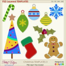 Christmas Layered TEMPLATES 3