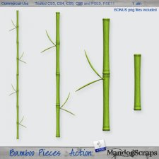 Bamboo Pieces Action by Mandog Scraps