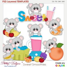 Sweet Smoothies Layered Element Templates