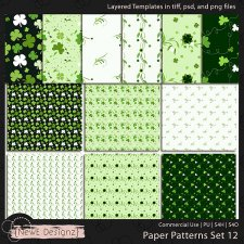 EXCLUSIVE Layered Paper Patterns Templates Set 12 by NewE Designz
