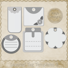 Layered Tag Templates 3 by Josy