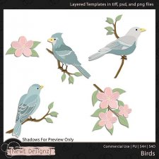 EXCLUSIVE Layered Birds Templates by NewE Designz