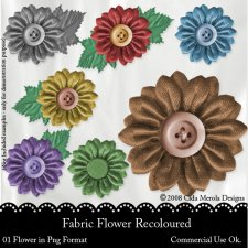 Fabric Flower by Cida Merola