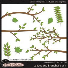 EXCLUSIVE Layered Leaves and Branches Templates by NewE Designz