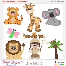Little Safari 2 Layered Element Templates