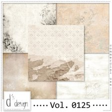 Vol. 0124 to 0126 Vintage Papers by Doudou Design